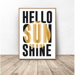 "Plakat typograficzny ""Hello Sunshine"""