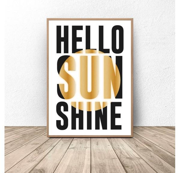 Plakat typograficzny Hello Sunshine