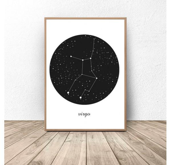 Plakat gwiazdozbiór Panna