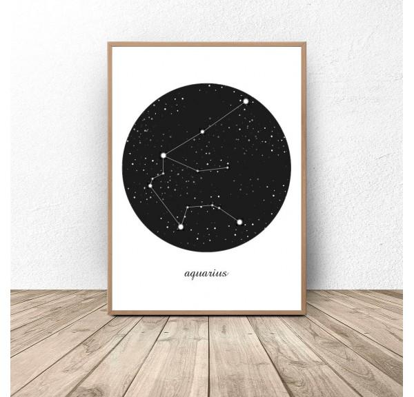 Poster constellation Waterman