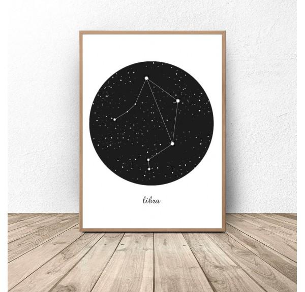 Plakat gwiazdozbiór Waga