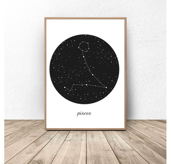 Poster constellation Pisces