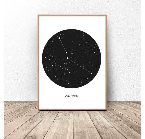 Plakat gwiazdozbiór Rak