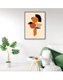 Plakat abstrakcyjny Pomarańczowa kompozycja 2