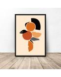 Plakat abstrakcyjny Pomarańczowa kompozycja
