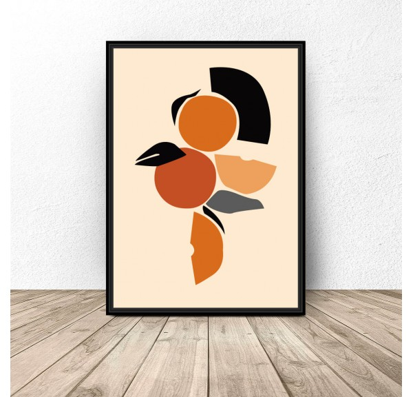 Abstract poster Orange composition