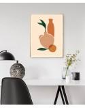 Plakat abstrakcyjny Dwa wazony z pomarańczą 2