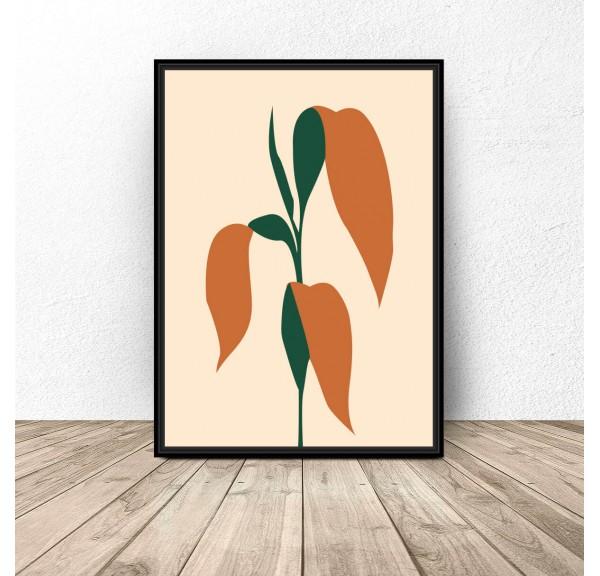 Plakat designerski Liście kukurydzy