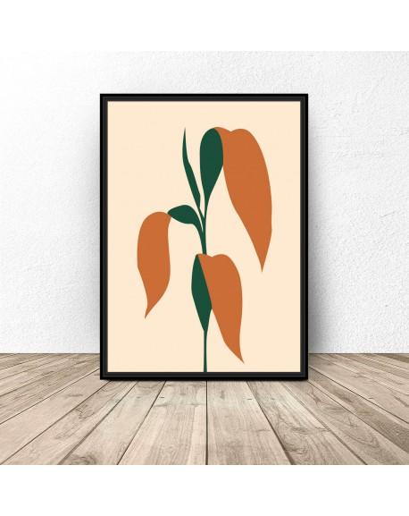 """Plakat designerski """"Liście kukurydzy"""""""