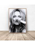 Poster Kate Moss with mustache