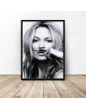 Poster Kate Moss with mustache 2