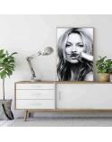 Plakat Kate Moss z wąsami 3