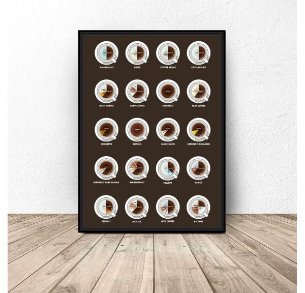 Plakat kuchenny Zestaw kaw