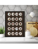 Kitchen poster Coffee set 3