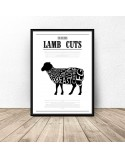 Poster for the kitchen Lamb Cuts