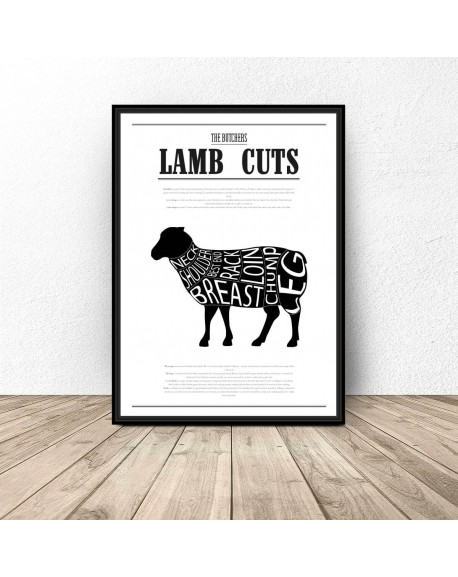 "Plakat do kuchni ""Lamb Cuts"""