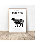 Poster for the kitchen Lamb Cuts 3