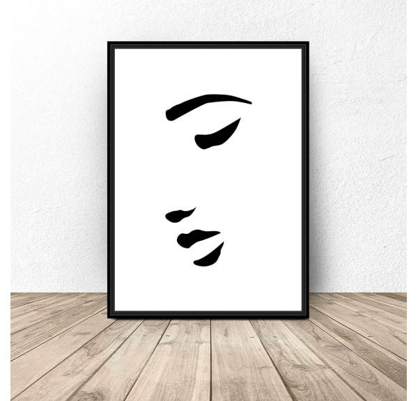 Plakat na ścianę Kobieca twarz