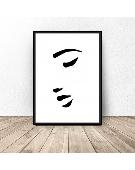 """Plakat na ścianę """"Kobieca twarz"""""""