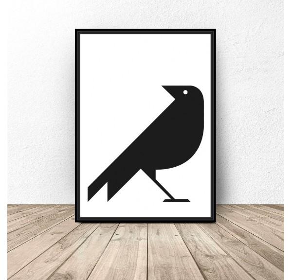 Plakat geometryczny Wrona