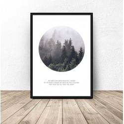 "Skandynawski plakat ""Natura w kole"""