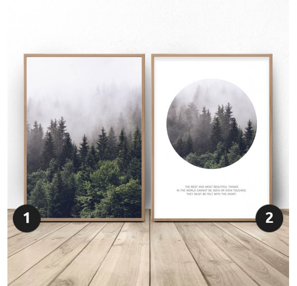 Set of 2 forest posters