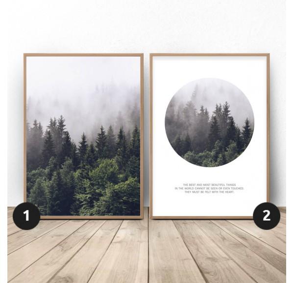 Zestaw 2 leśnych plakatów