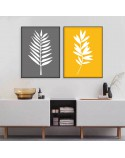 Set of two posters White leaves 2