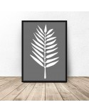 Set of two posters White leaves 3