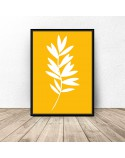 Set of three White Leaves posters 2