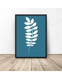 Set of three White Leaves posters 3