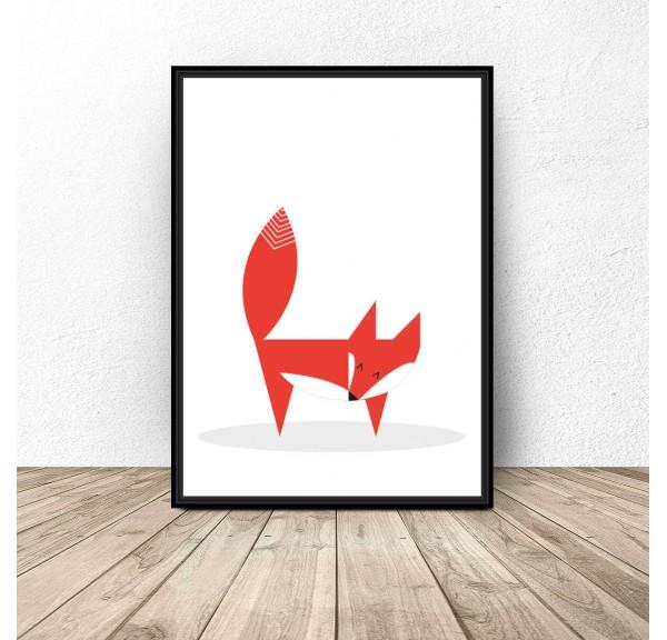 Plakat Skandynawski lis
