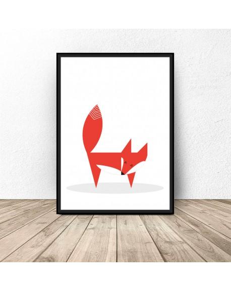 """Plakat """"Skandynawski lis"""""""