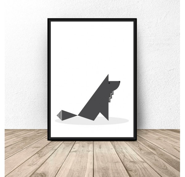 Plakat Skandynawski wilk
