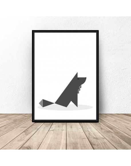 "Plakat ""Skandynawski wilk"""