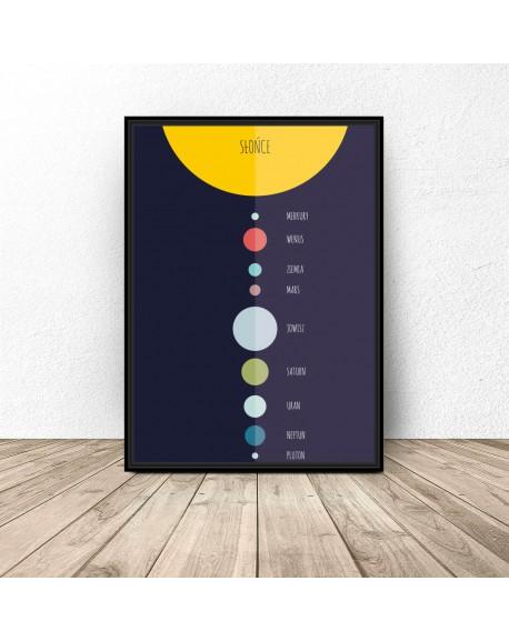 """Plakat edukacyjny """"Układ słoneczny"""""""