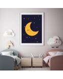 Plakat dla dzieci Księżyc 2