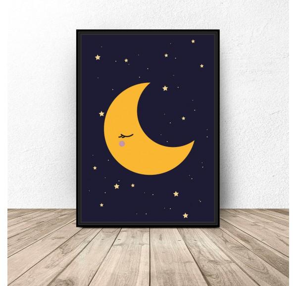 Plakat dla dzieci Księżyc