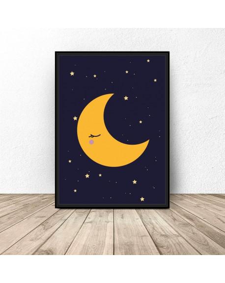 """Plakat dla dzieci """"Księżyc"""""""