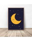 Plakat dla dzieci Księżyc 3