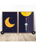Moon and Planets Poster Set