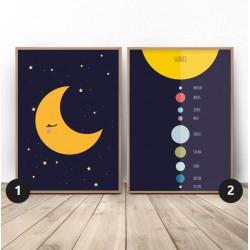 """Zestaw plakatów """"Księżyc i planety"""""""