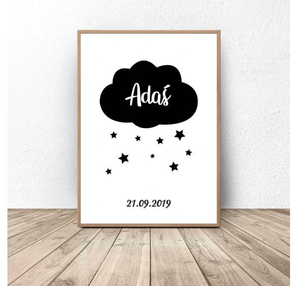 Plakat metryczka z chmurką