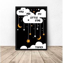 "Personalizowany plakat ""Little star"""