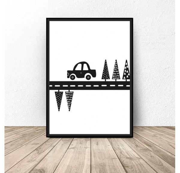 Plakat dla dzieci Samochodzik