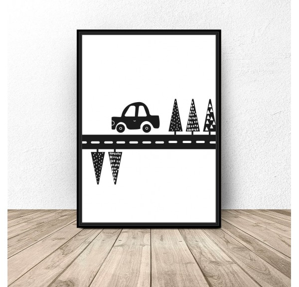 Poster for children Toy Car