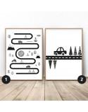 Zestaw dwóch plakatów Mały podróżnik
