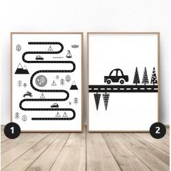 """Zestaw dwóch plakatów """"Mały podróżnik"""""""