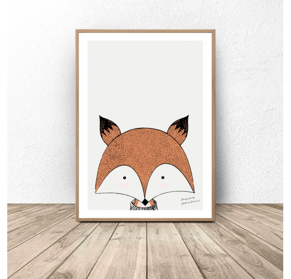 Author's poster with fox