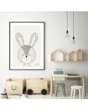Author's poster with bunnies 2